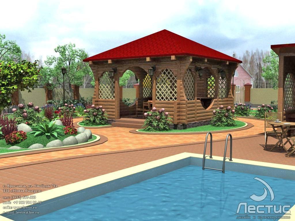 Дизайн индивидуального дома с приусадебным участком